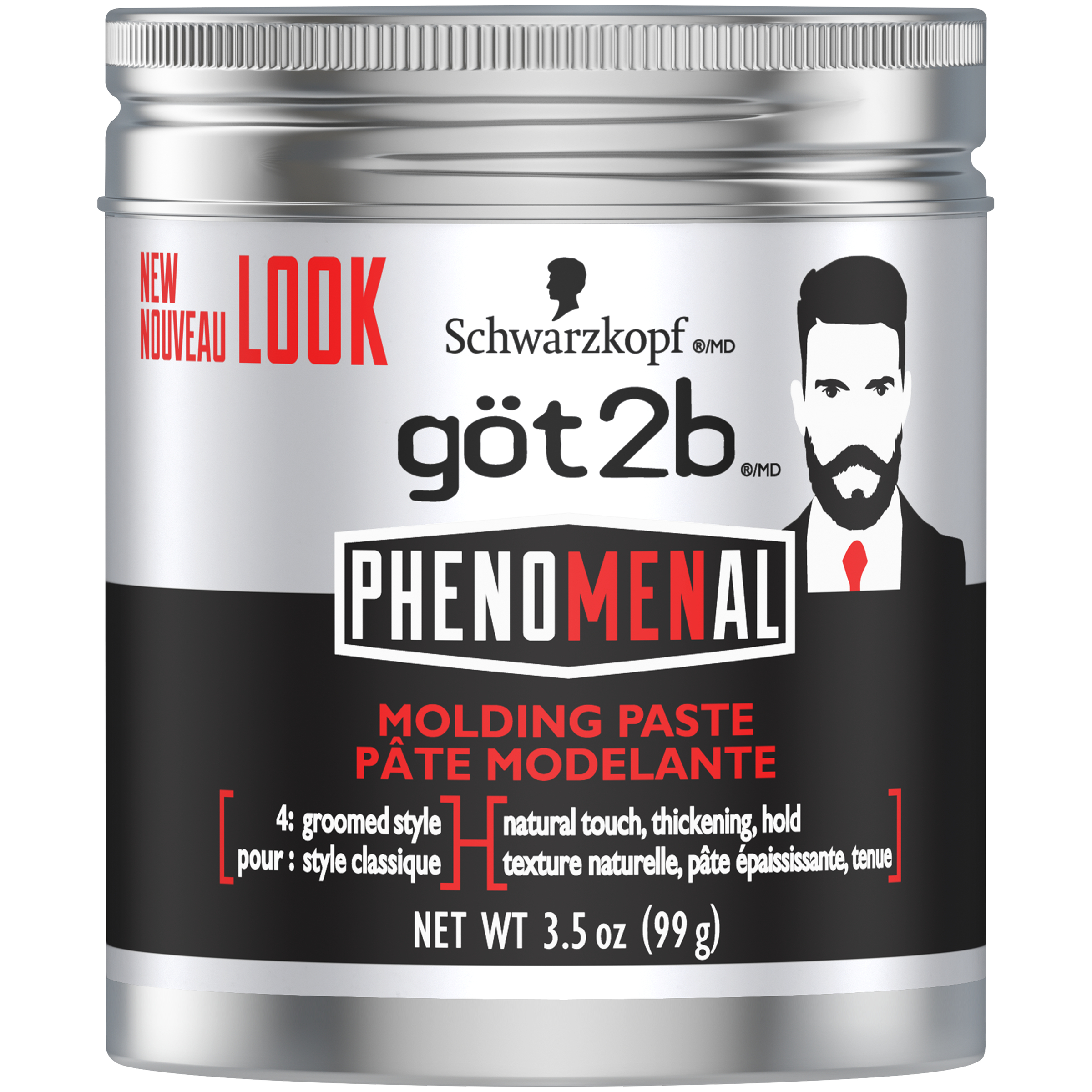 Got2b PhenoMENal Molding Hair Paste, 3.5 Ounce