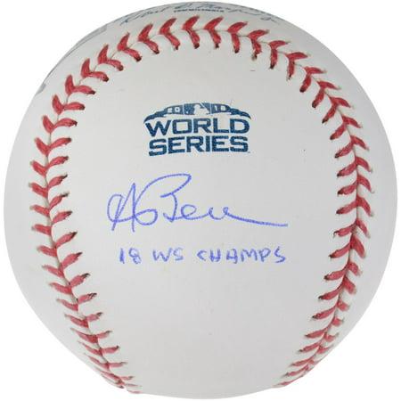 Andrew Benintendi Boston Red Sox 2018 MLB World Series Champions Autographed Logo Baseball with