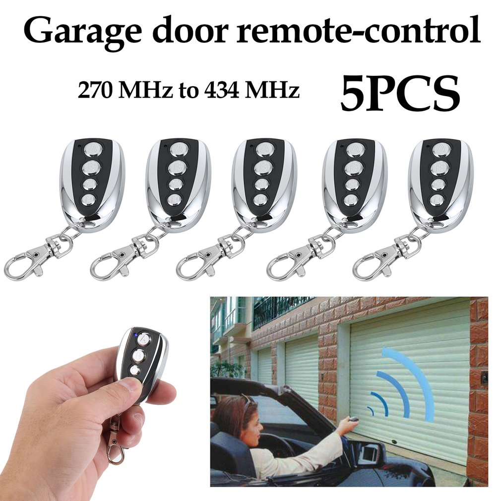 5pcs Wireles s Backup Key Quick Copy Key Wireles s Remote Control For Garage Sliding Gate Door Opener Automatic Operator