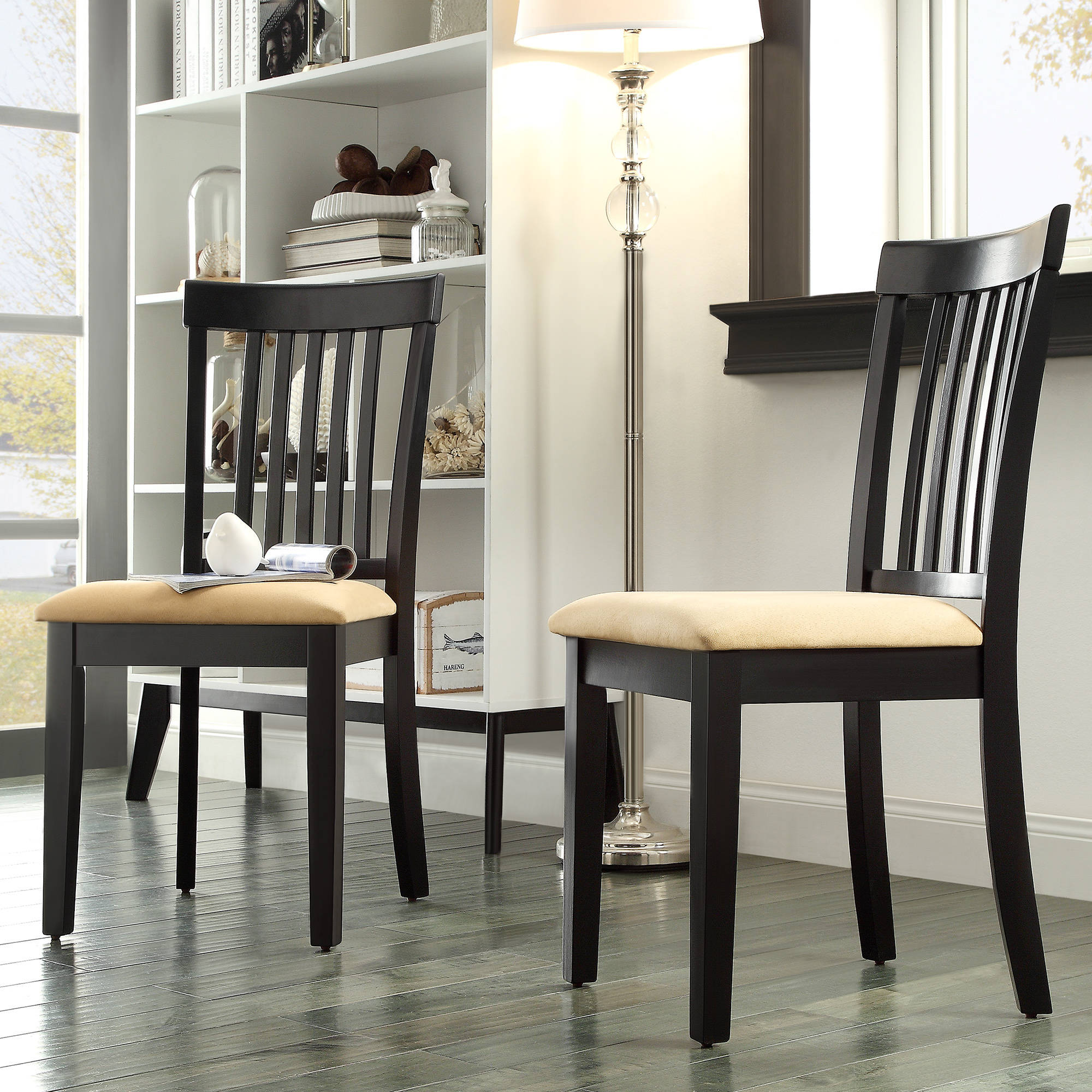 Lexington Mission Style Dining Chairs, Set Of 2, Black