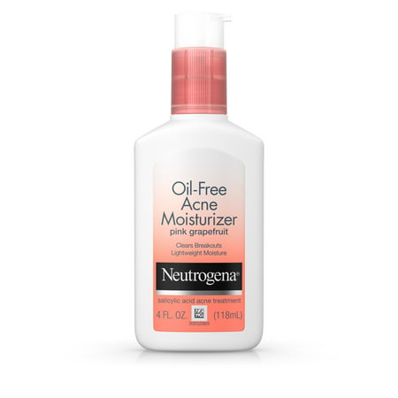 Neutrogena Oil-Free Acne Pink Grapefruit Facial Moisturizer, 4 fl. (Best Vitamins For Acne Prone Skin)