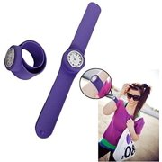 Dazzling Toys Kids Purple Rubber Slap-on Hand Watch. Perfect Party Favor!