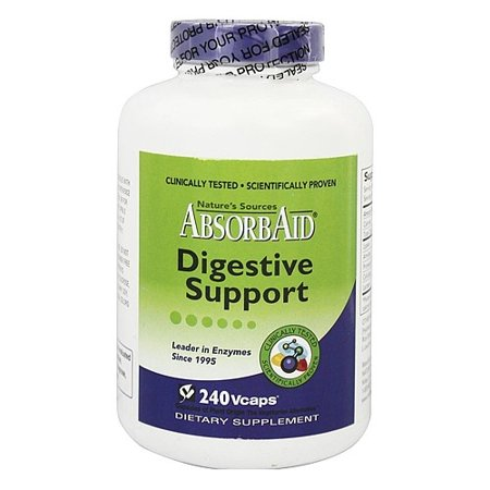 Absorbaid Digestive Support Veggie Caps, 240 Ct