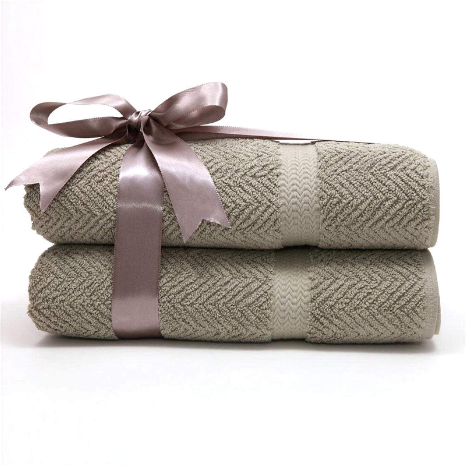 Linum Home Textiles Herringbone Bath Towel (Set of 2) by Overstock