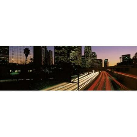 Ca Panoramic Map - Panoramic Images PPI74898L Harbor Freeway Los Angeles CA Poster Print by Panoramic Images - 36 x 12