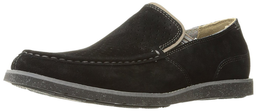 Hush Puppies Men's Black Suede Lorens Jester Slip-on Loafer by Hush Puppies