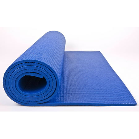 Double Thick Yoga Mat W Wall Chart Shire Blue 7mm