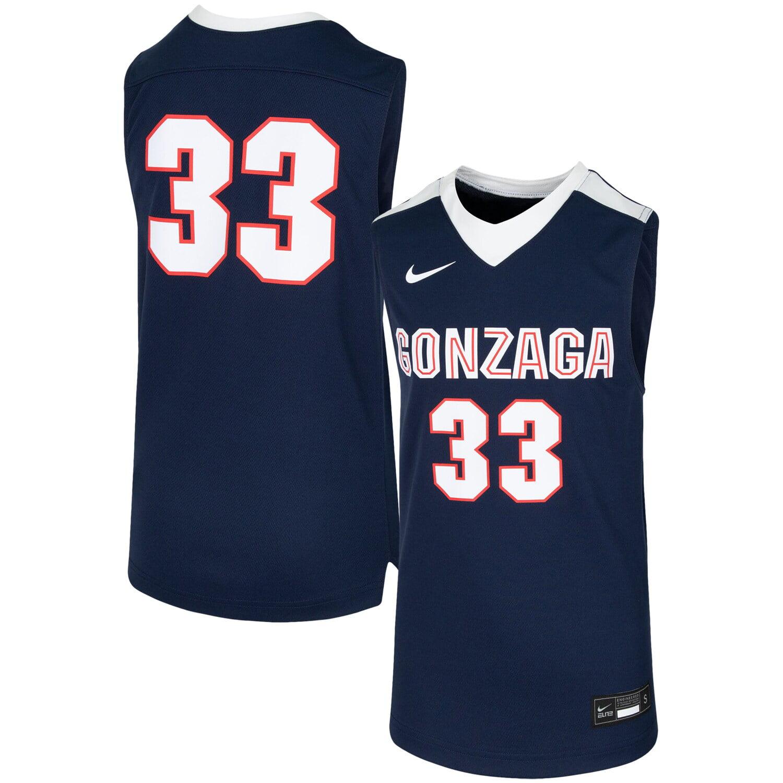Alex Martin Gonzaga Bulldogs Basketball Jersey-White