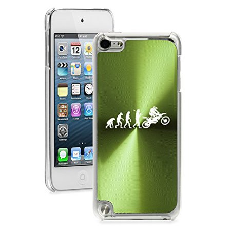 Dirt Rider Accessories - For Apple iPod Touch 5th / 6th Generation Hard Back Case Cover Evolution Dirt MX Rider (Green)