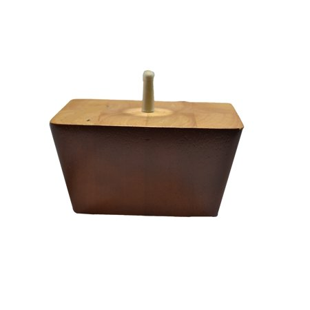 3 Inch Rectangular Style Wooden Leg With Cherry Finish For Chairs and Sofas