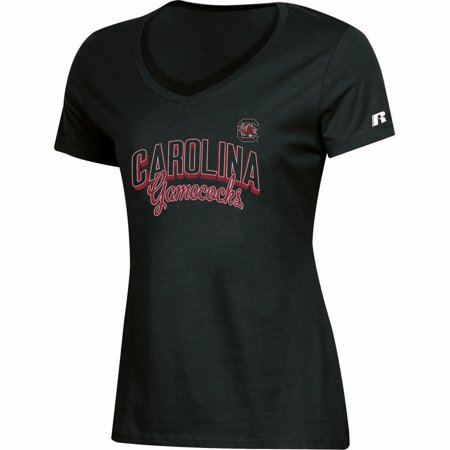 South Carolina Gamecocks Soccer (Women's Russell Black South Carolina Gamecocks Arch V-Neck T-Shirt)