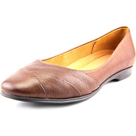 Naturalizer Jaye Women N/S Round Toe Leather Brown Flats