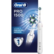 Oral-B Pro 1500 CrossAction Electric Power Rechargeable Battery Toothbrush, Powered by Braun