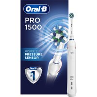 Oral-B Pro 1500 CrossAction Electric Toothbrush, Rechargeable Battery