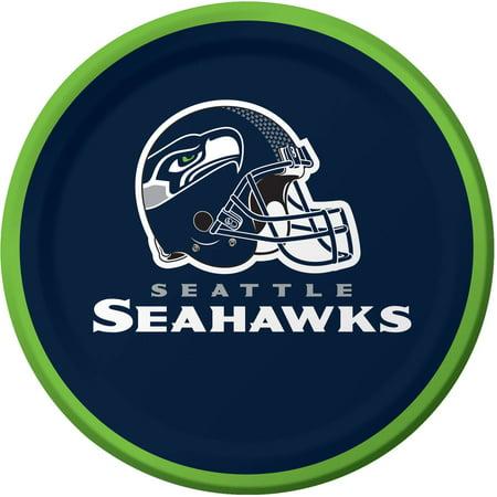 Seattle Seahawks Dessert Plates, - Seahawks Party