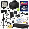 """Advanced Kit for Canon PowerShot G1X G16 G15 SX50HS with 64GB Memory Card, NB-10L Battery Pack, Charger, Case, Tripod, Grip Handle, LED Light, Microphone, Spirit Level, Cleaning Kit, $50 Gift Card Package Contents:<br>1. Opteka NB-10L 1800mAh Ultra High Capacity Li-ion Battery Pack<br>2. Battery Charger<br>3. 64GB Transcend High Speed Error Free SD Memory Card<br>4. Secure Digital 2.0 USB Reader<br>5. 60"""" Compact Professional Photo/Video Tripod<br>This Professional 60"""" Tripod collapses down to 22.5"""" and features foam padded upper legs, quick-release plate, non-slip swivel feet and one bubble level indicator. Easy-crank handle for the adjustable center pole.<br>6. Deluxe Padded Carrying Case<br>7. Opteka X-GRIP Professional Camera / Camcorder Action Stabilizing Handle<br>8. Opteka VM-8 Directional Mini-Shotgun Microphone<br>9. Opteka VL-5 Ultra High Power 36 LED<br>10. Hot Shoe Three Axis Triple Bubble Spirit Level<br>11. Opteka Digital Camera/Camcorder Lens Cleaning Kit, Tabletop Tripod, & LCD Screen Protectors<br>12. $50 for Online Digital Prints<br>"""