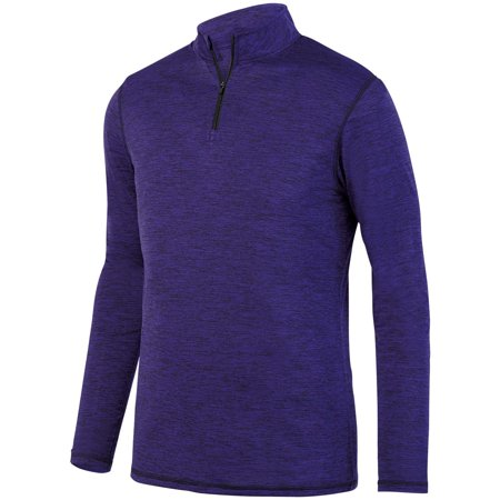 Augusta Sportswear 2955 Half-Zip Top Intensify Black Heather Pullover Men's ()