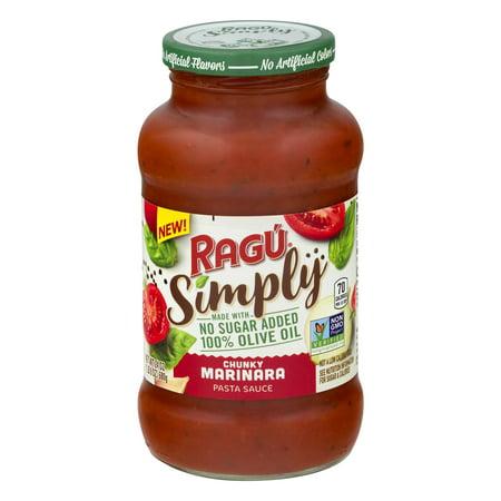 (3 pack) Ragu Simply Chunky Marinara Pasta Sauce, 24