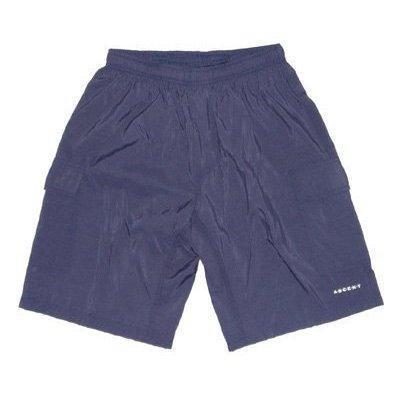ascent baggy mtb cycling shorts navy blue men's - nylon outershorts, padded lycra innershorts
