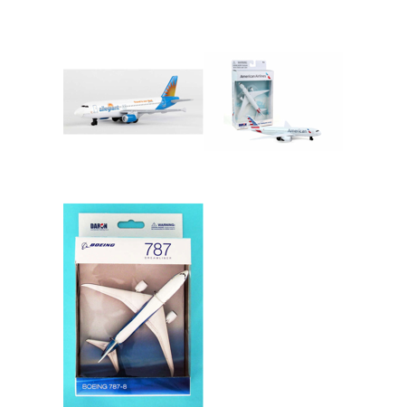 Allegiant  American  Boeing Diecast Airplane Package   Three 5 5   Diecast Model Planes