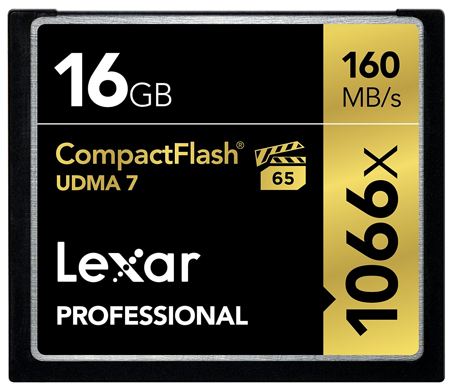 Lexar Professional 1066x 16GB VPG-65 CompactFlash card (Up to 160MB s Read) w Free IMage Rescue 5 Software... by Lexar