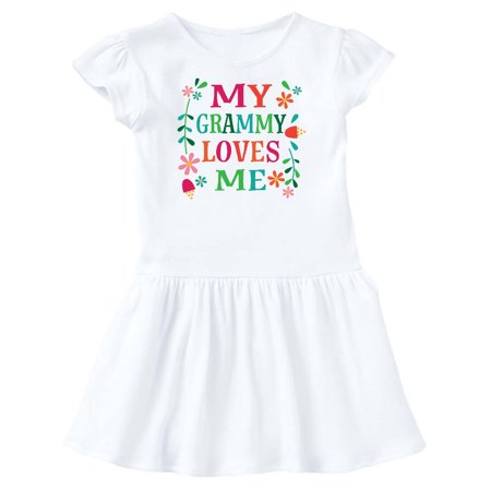 My Grammy Loves Me Girls Gift Apparel Toddler Dress - Girls Apparel