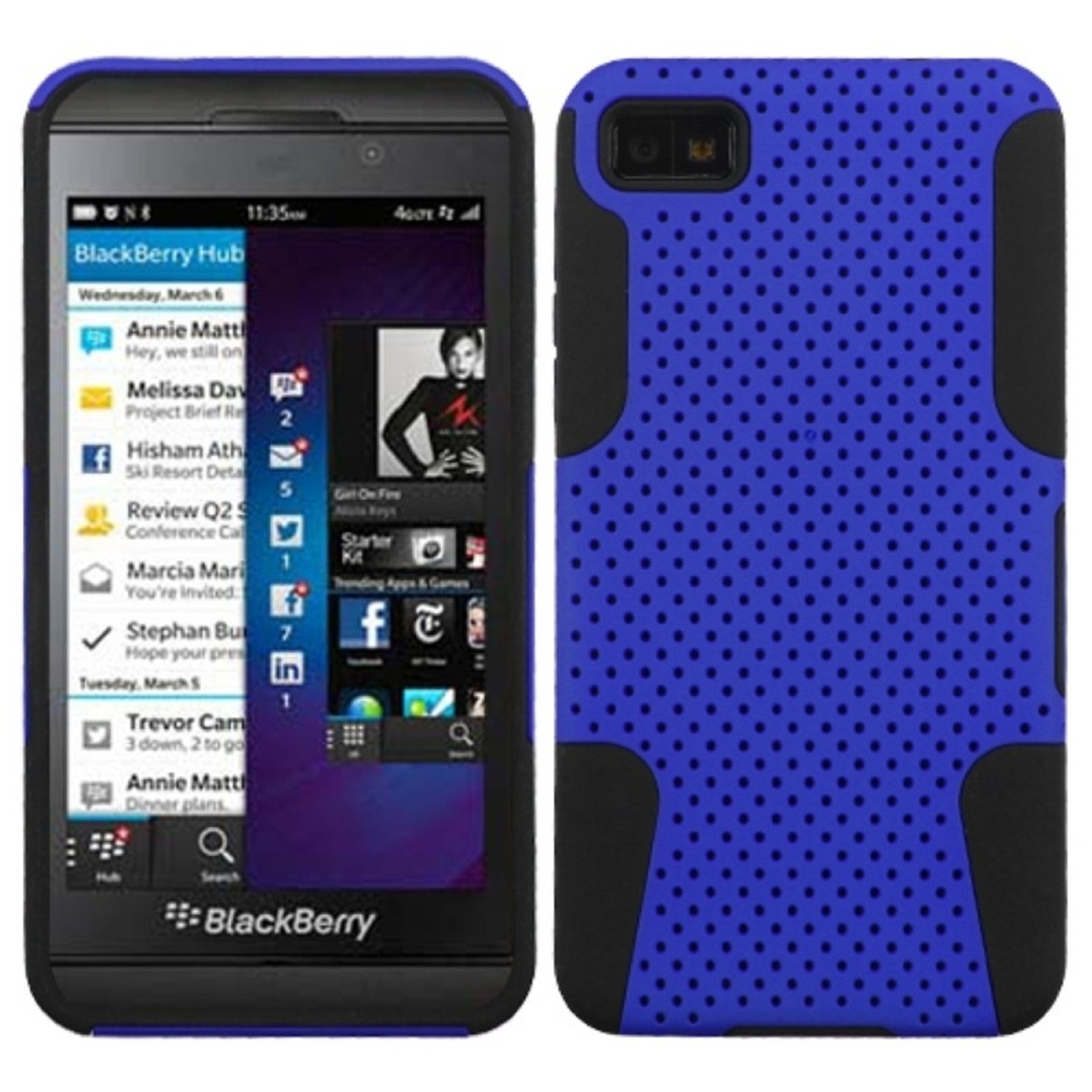 Insten Dark Blue/Black Astronoot Phone Case for BLACKBERRY: Z10