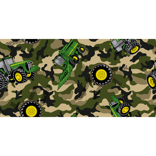 Springs Creative John Deere Camo Tractor Toss Fabric by the Yard