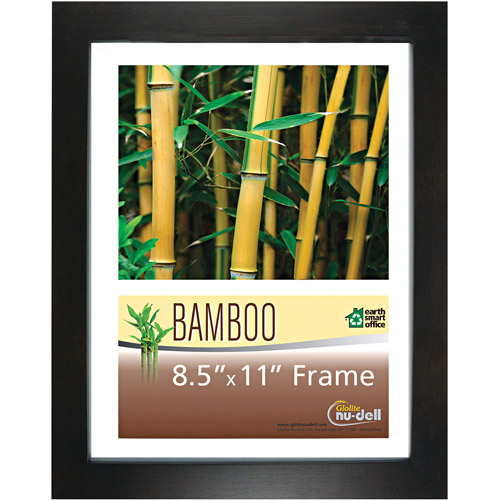 "Nu-Dell Bamboo Frame, 8-1/2"" x 11"", Black"