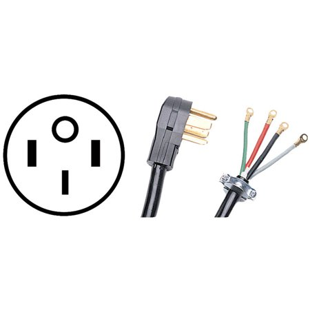 Certified Appliance Pet90-2080lg 4-Wire Range Cord, 4′
