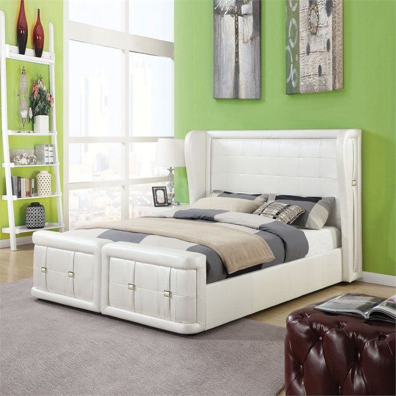 ACME Furniture Linus Queen Bed in Pearl White