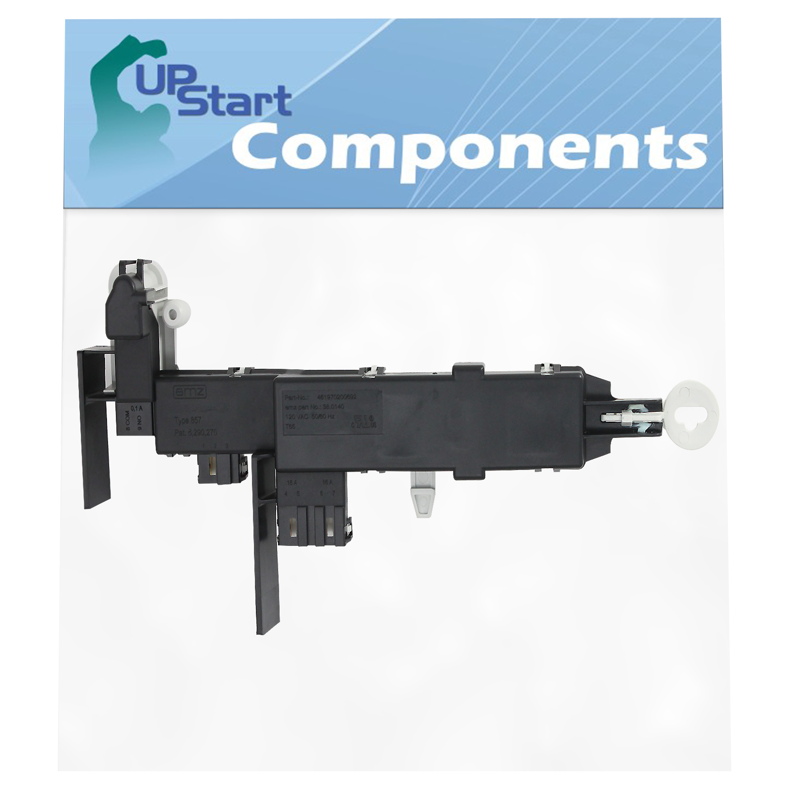 Compatible with DC64-00519B Washer Door Lock Switch Assembly Washer 0000 8182634 WP8182634 Washing Machine Door Latch Lock Replacement for Samsung WF42H5200AF//A2