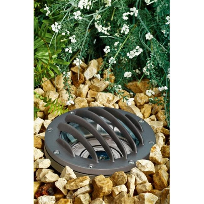Dabmar Lighting LV305-BZ-MR Cast Aluminum In-Ground Well Light with Grill, Bronze
