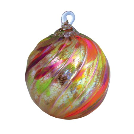 Glass Autumn Twist Globe Ornament