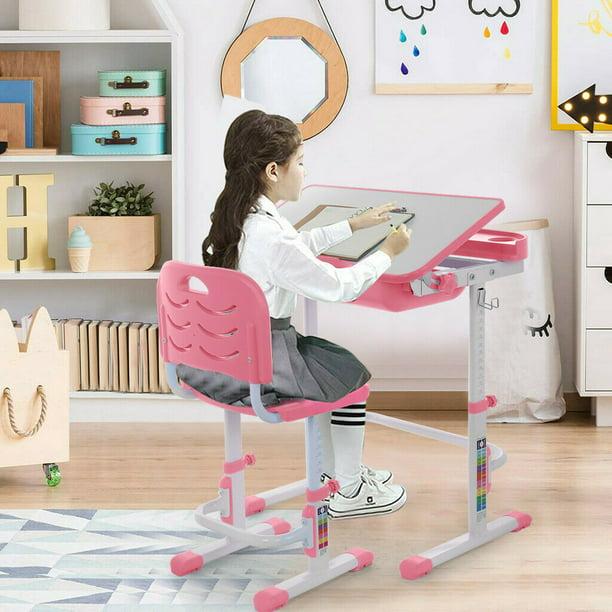 New Kids Study Desk Chair Set, Girls Desk And Chair