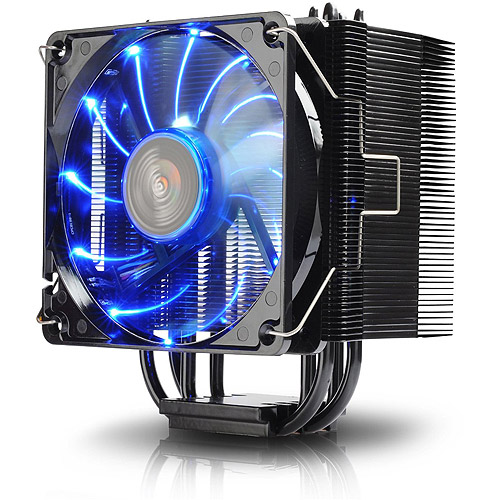 Ecomaster Technology Twister CPU Air Cooler with 120mm LED Fan ETS-T40-BK Black