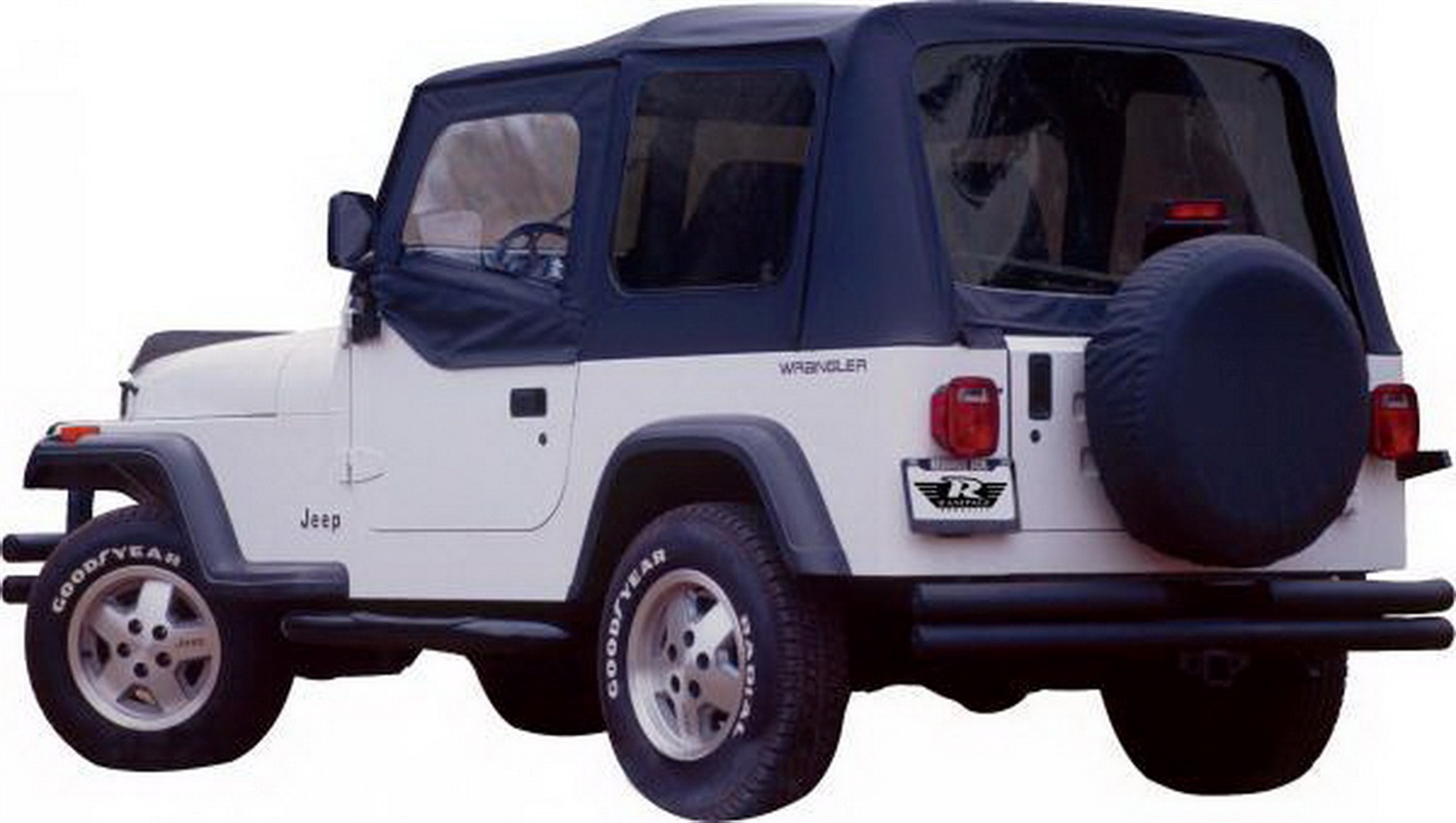 Rampage 68215 Denim Black Complete Replacement Soft Top With Frame Cj5 Repair And Hardware