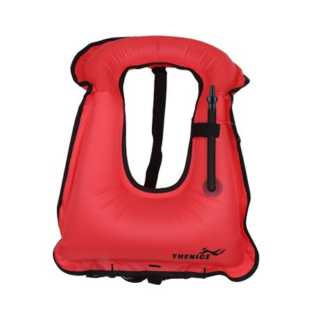 Water Sports Kids Inflatable Life Jacket Vest for Snorkeling Surfing Boating Swimming Red