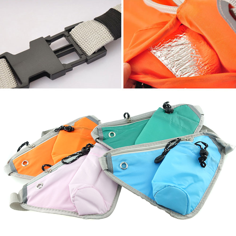 Unisex Men Women Fashion Sporty Multi-purpose Waist Shoulder  Bag Pack With Bottle Holder Adjustable Strap for Sport Hiking Traveling Passport Wallet (4pcs Mixed Colors)