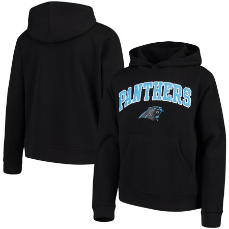 Youth Black Carolina Panthers Clear Gel Fleece