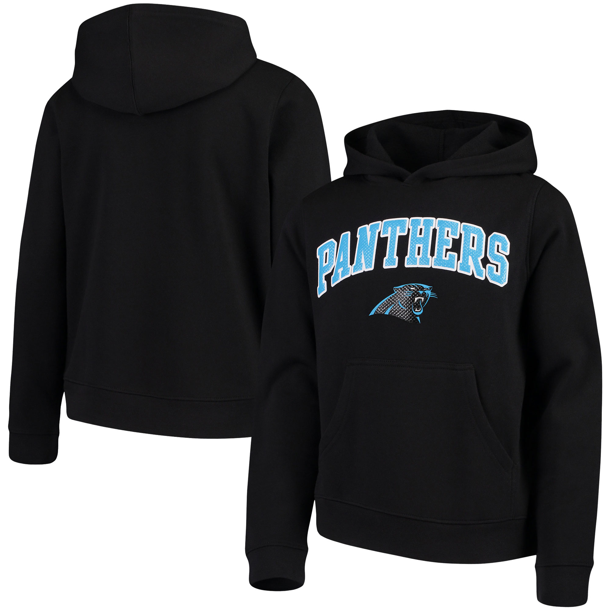 Youth Black Carolina Panthers Clear Gel Fleece Hoodie