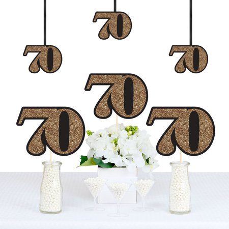 Adult 70th Birthday - Gold - Decorations DIY Party Essentials - Set of 20](70th Birthday Banner)