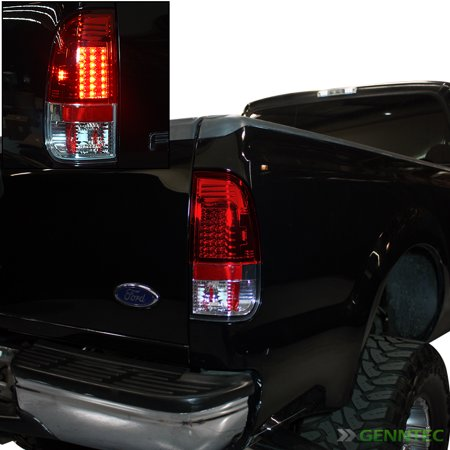 For 1997-2003 Ford F150 F250 Styleside Red LED Tail Lights Rear Brake Lamp  New Pair Left+Right 1998 1999 2000 2001 -