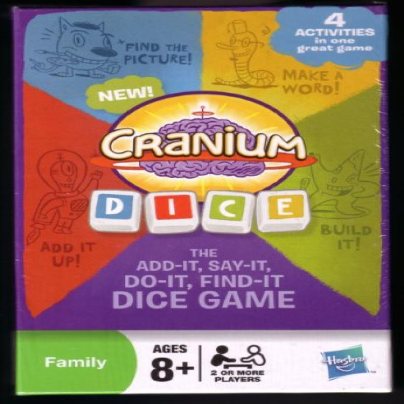 Cranium Dice: The Add-It, Say-It, Do-It, Find-It Dice Game by
