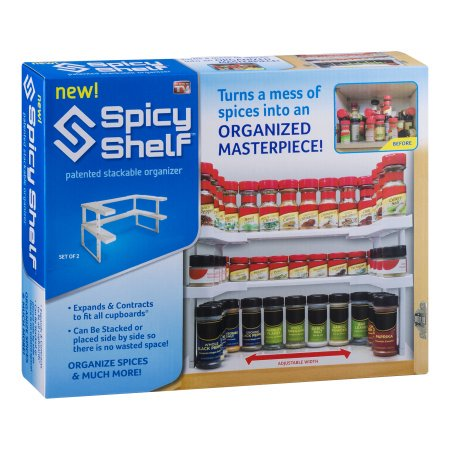 Edenware Spice Rack And Stackable Shelf Amazing As Seen On TV Spicy Shelf Walmart
