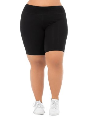 Athletic Works Women's Plus Size Cotton Blend Core Bike Short