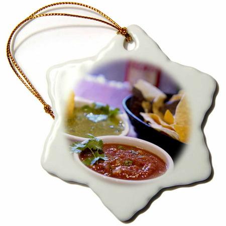 3dRose Tomatillo, Mexican cuisine, Destin, FL - US10 FVI0004 - Franklin Viola, Snowflake Ornament, Porcelain, - Tomato Ornament