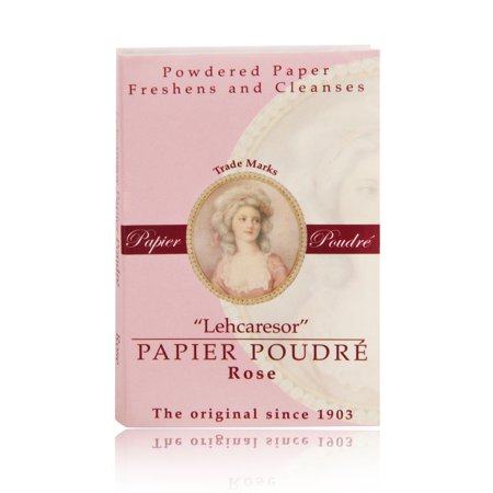 Papier Poudre Oil Blotting Papers - Rose 1 Booklet (65 (Best Muji Blotting Papers)