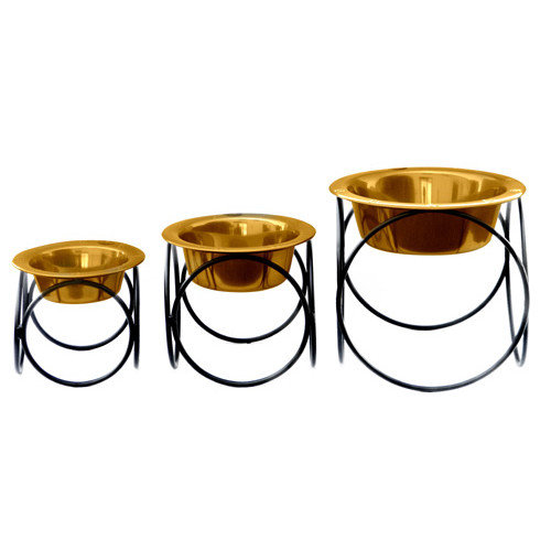 Platinum Pets Olympic Diner with Rimmed Embossed Dog Bowl