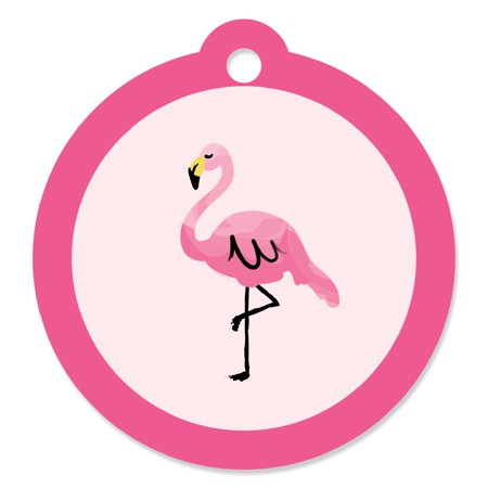 Pink Flamingo - Tropical Summer Party Favor Tags (Set of 20)](Party Favor Tags)